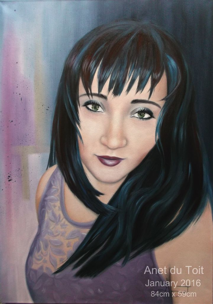 Mona 59cm x 84cm Oil on canvas commissioned / SOLD
