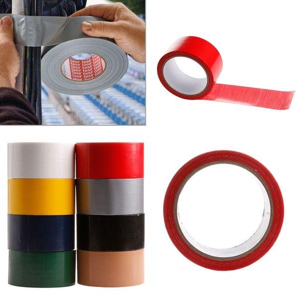 10m Waterproof Self Adhesive Pipes Duct Bookbinding Repair Cloth Tape 8 Colors Mer Cloth Tape Bookbinding Duct