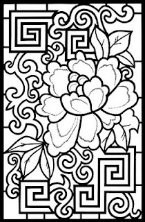 from chinese designs stained glass coloring book i love all of the stained glass coloring books give kids a different coloring experience and youll get