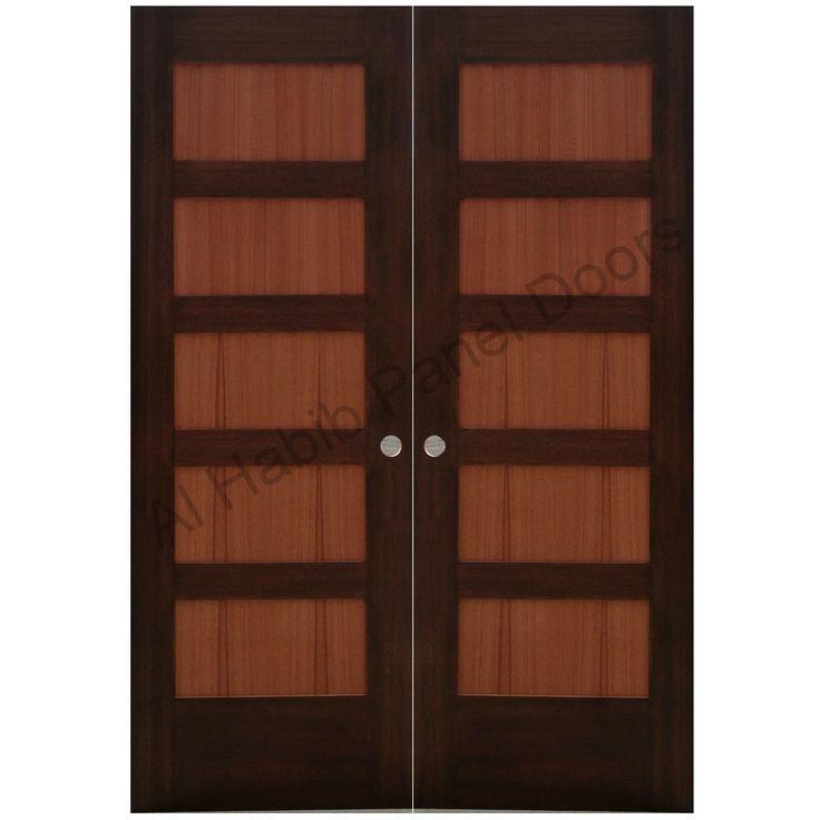 Ash Wood Double Door Hpd415 - Main Doors - Al Habib Panel Doors