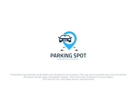 Parking Car Spot by PC Design on @creativemarket