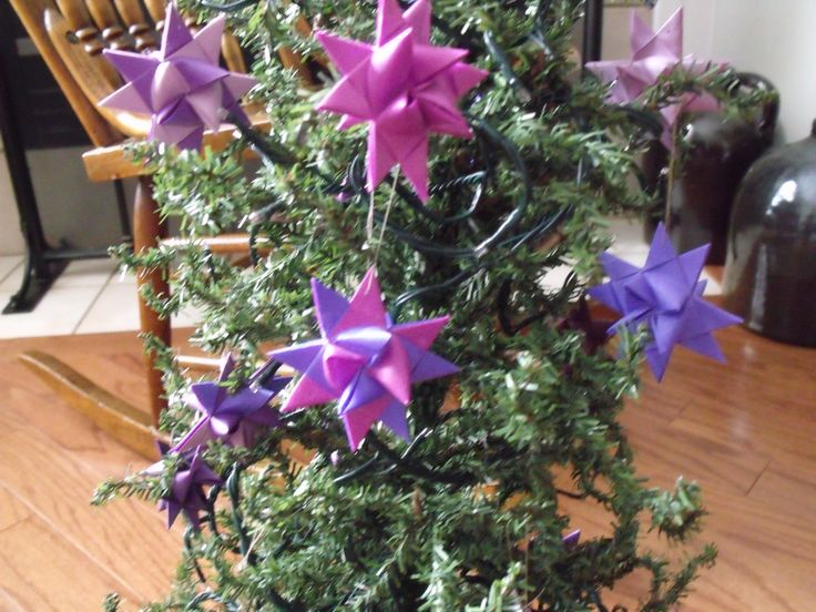 2 INCH STARS I MADE TO HANG ON A SPECIAL TREE/.