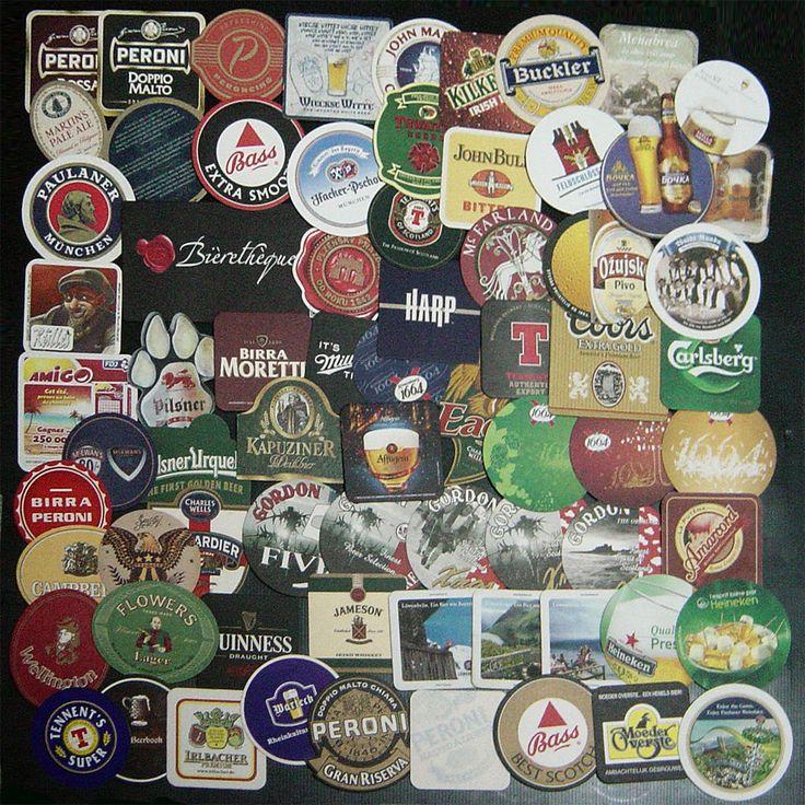 """€ 17,99 Kit collezione 70 sottobicchieri pub bar birra nuovi usati   Collezione  composta da 70 sottobicchieri, di cui pochi sono usati, di varie nazioni tra cui: Germania, Olanda, Rep. Ceca e Italia. Tra tutti spicca a forma di zampa con imbottitura in gomma della birra Pilsner, quello di grande formato della birra Bièrethèque, la serie della birra """"1664"""", la serie natalizia della birra Gordon, una serie della birra Löwenbräu ed altri sagomati. Eccezionale collezione di grande interesse  da"""