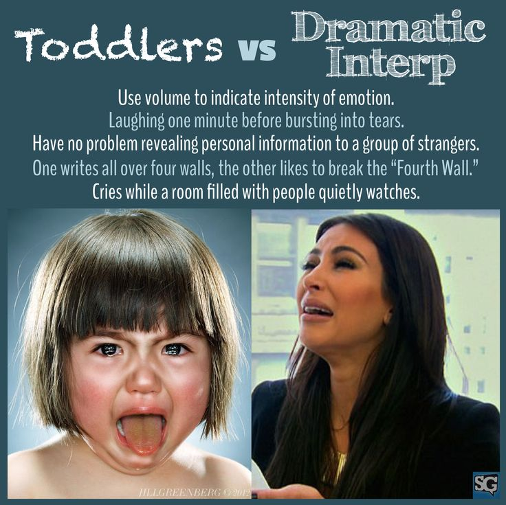 Some eerie similarities between toddlers and #dramatic interp. Check out our board for more #speech and #debate humor!