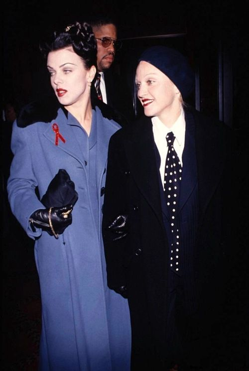 Madonna and Debi Mazar at the Malcolm X premiere in NYC