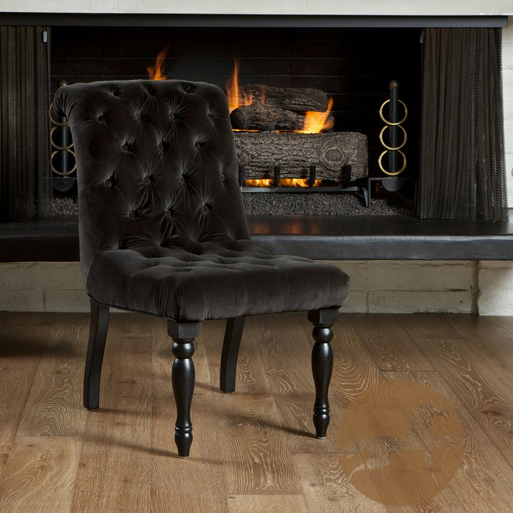 Christopher Knight Home Wadsworth Tufted Black Velvet Dining Chair