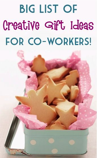 BIG List of Creative Gift Ideas for Co-workers! ~ from TheFrugalGirls.com #gifts #thefrugalgirls