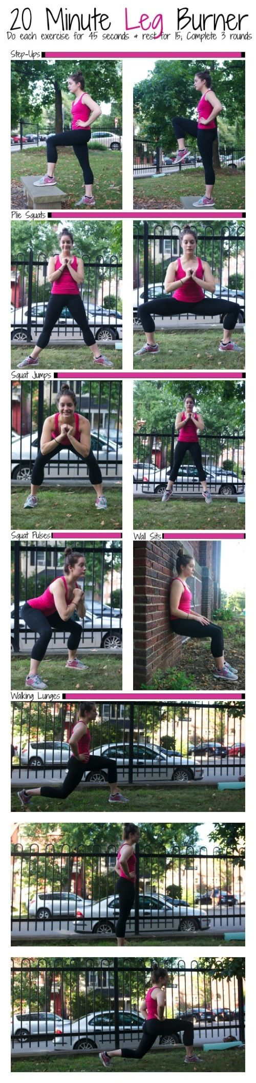 Looking for a quick leg workout? Give this 20 Minute Leg Workout a try--it will make your quads burn! (in a good way!)