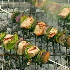 Marinated Halloumi Cheese Kebabs with Herbs ...