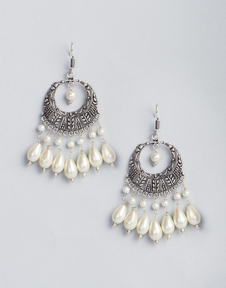Metal Anusuya EM 329 Pearl Dangle Earrings