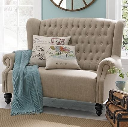 Love seat love: Decor Ideas, Master Bedrooms, Reading Chairs, House, Loveseats, Cute Bedrooms Chairs, Studios Couch, Living Rooms Ideas,  Day Beds