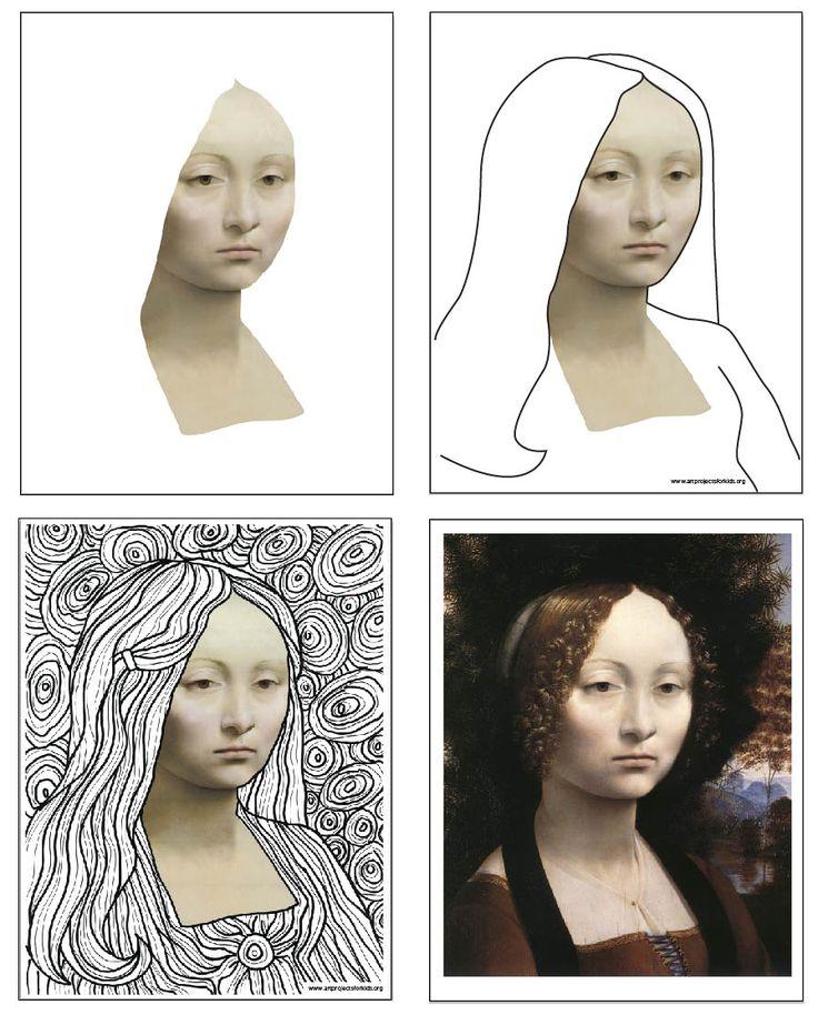 Mona Lisa Line Art
