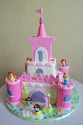 Торт-замок фото