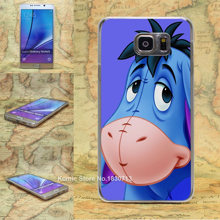 Big Ass Long Ear eeyore Cute Donkey Pattern transparent clear hard Cover Case for Samsung galaxy note 2 3 4 5 s4 mini s6 edge+