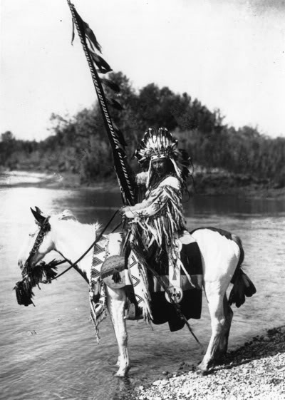 Duck Chief of the Blackfoot Nation. No date, location, or photographer noted.                                                                                                                                                                                 Plus