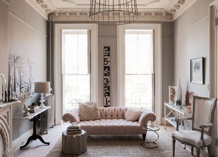 Small but chic living room design