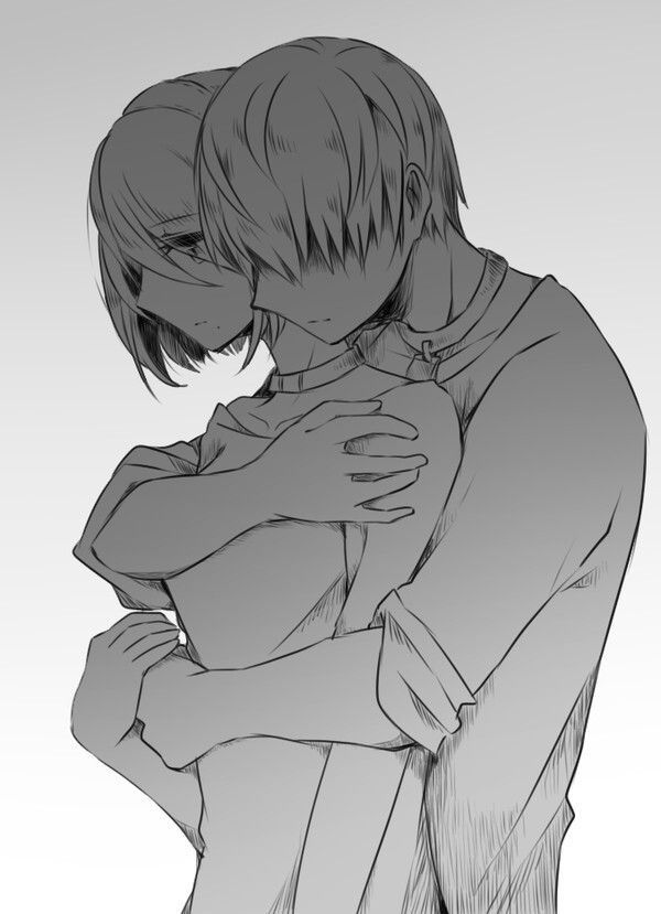 Картинки обниманий аниме