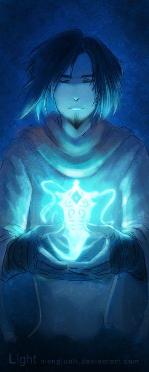 You are my light by Mengluoli.deviantart.com on @deviantART. Avatar Wan with the goddess of light and peace, Raava.