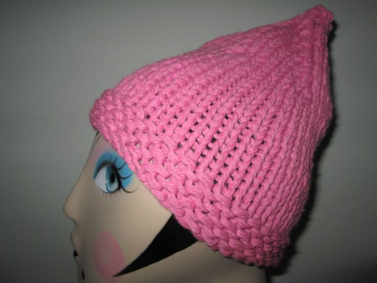 Pink Hand Knit Hat by SuzannesStitches, Womens Knit Beanie, Toddler Winter Hat, Hand Knit Baby Girl Hats, Girls Winter Hat, Knit Pink Hat by SuzannesStitches on Etsy
