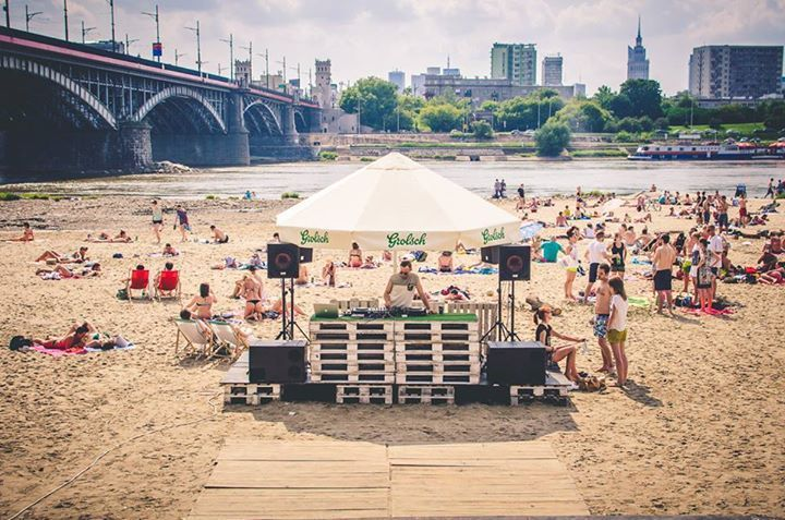 TEMAT RZEKA. Riverside has become pretty big thing in Warsaw recently and Temat Rzeka put all the best activities in one place. It's the best place to hang out in the summer time, makes you feel like you're on ...