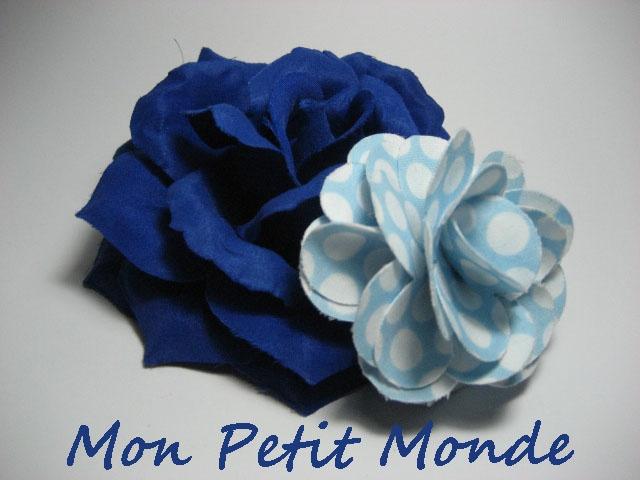 Flor para traje flamenco en Azul