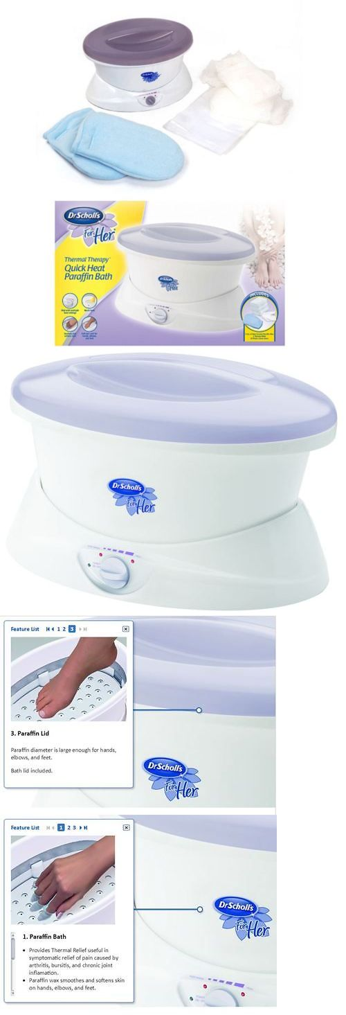 Spas Baths and Supplies: Paraffin Wax Bath Quick Heat Thermal Mitts Hand Feet Therapy Spa Machine BUY IT NOW ONLY: $43.56