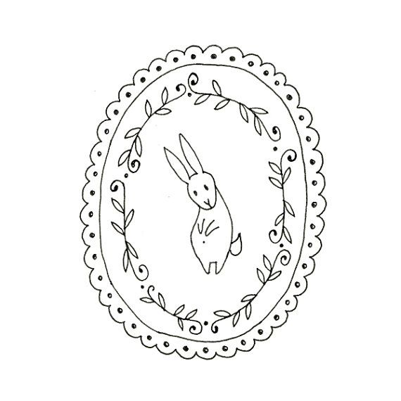 Best images about bunny embroidery patterns on