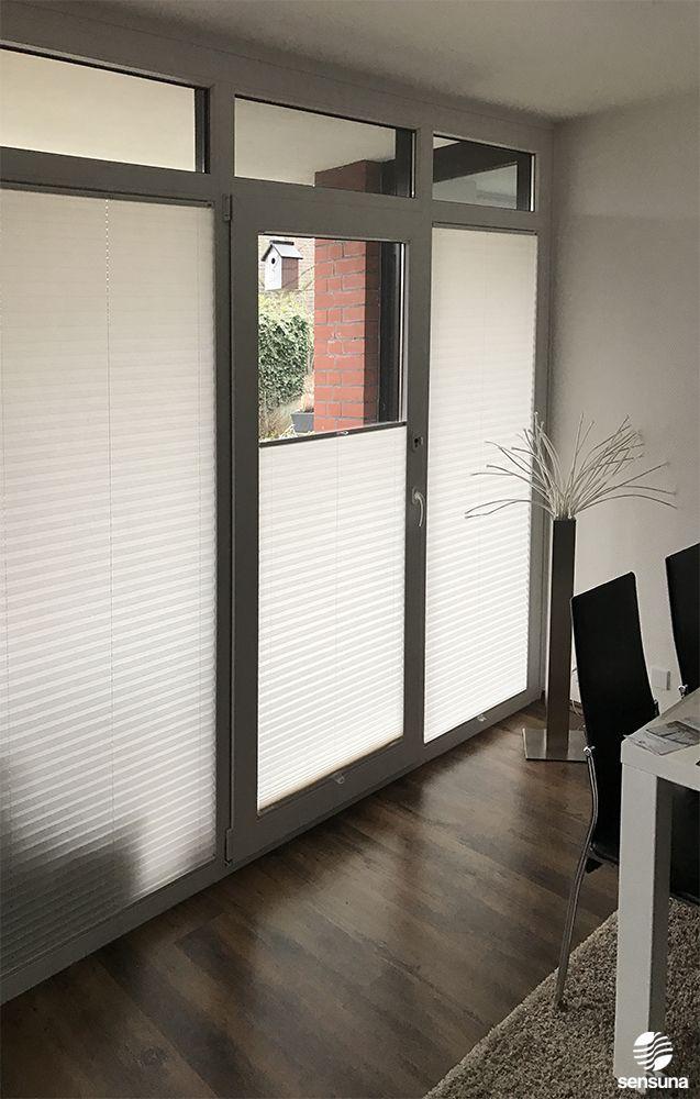 Auch für Türen den passenden Sichtschutz und Sonnenschutz - mit Plissees von Sensuna