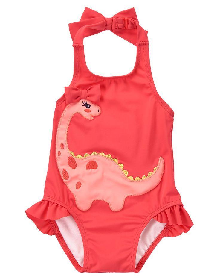 Imcute Newborn Baby Girls Dinosaur Outfit Toddler Girls Cute Swimsuit Beachwear Bathing Suit Summer Outfit