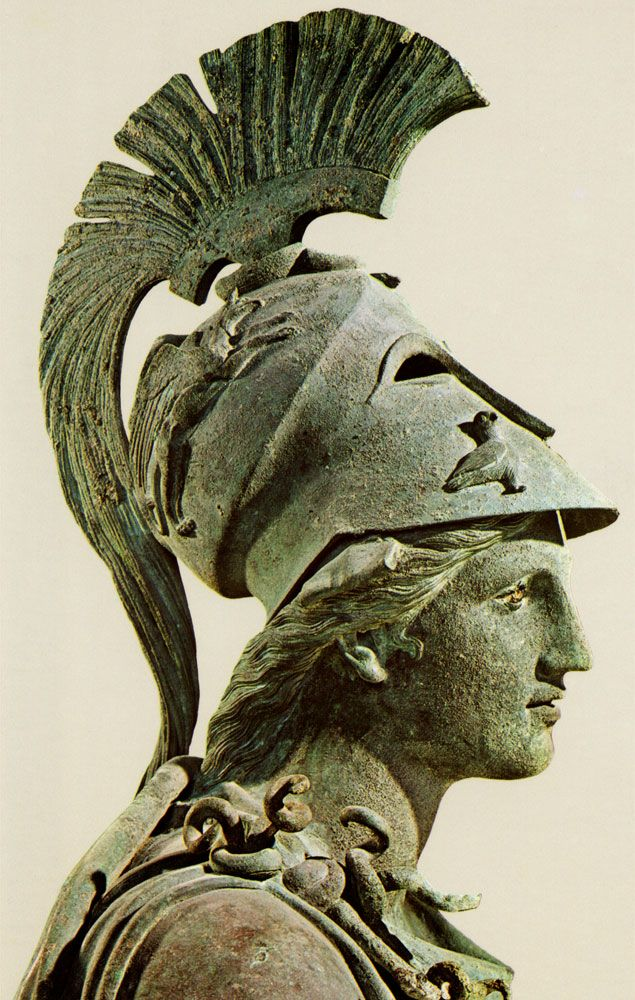 Bronze statue of Athena from the Piraeus, c. 340-330 BC.