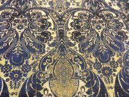 Bawełna królewski niebieski