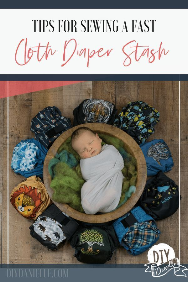 Tips for sewing a cloth diaper stash faster. #clothdiapers #sewing #sewinginspi…