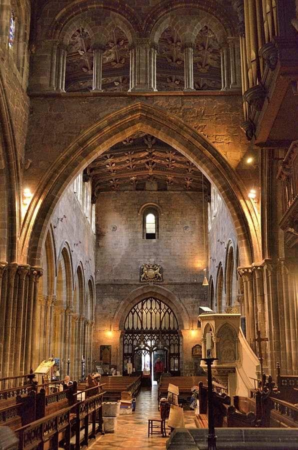 St Mary's Church in Shrewsbury, Shropshire