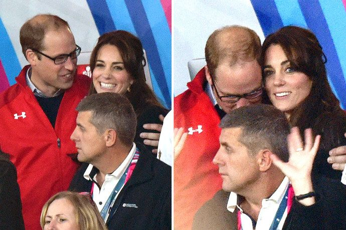 Will and Kate attend the England v Wales match during the Rugby World Cup 2015 on September 26, 2015.
