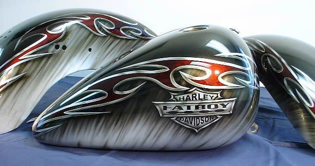 Custom Airbrush Paint Jobs Evil | Custom Paint - Let's See Them! - Page 3 - Harley Davidson Forums