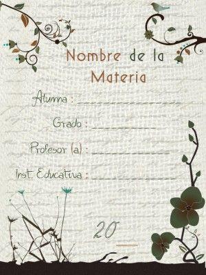 10 Carátulas para cuadernos en pergaminos (4)                              …