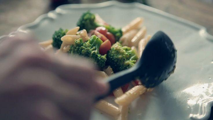 Pennette al salmone con broccoli