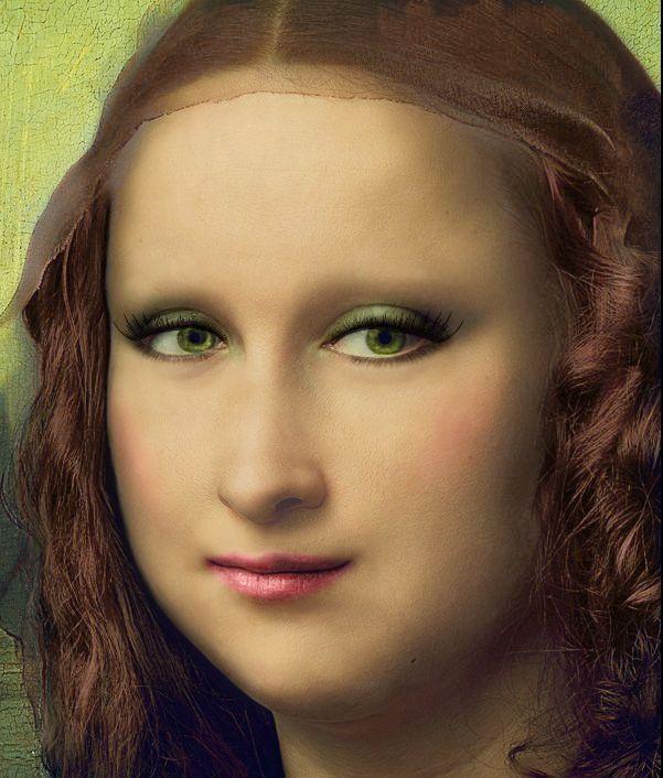 Mona Lisa With Makeup