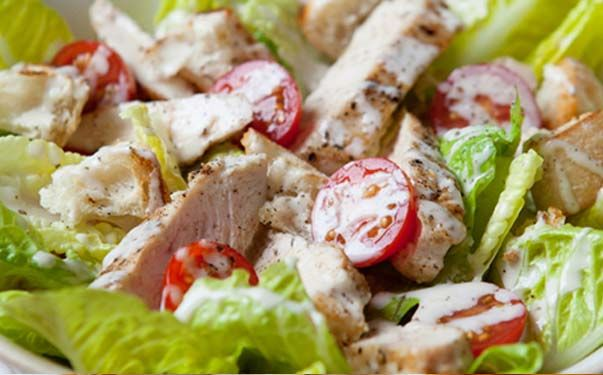 Hairy Bikers low calorie chicken caeser salad