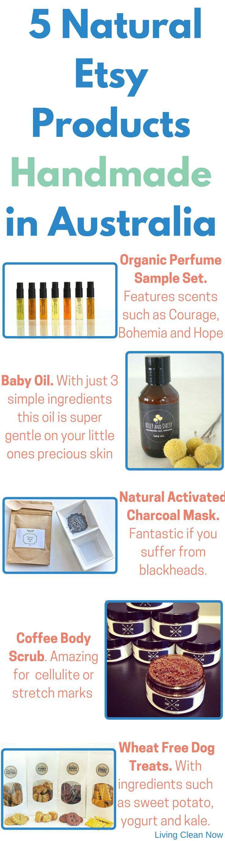 5 natural, chemical free products that I love from Etsy. All sellers are from Australia. For another 5 products check out: https://livingcleannow.com.au/live-naturally-with-the-help-of-etsy/