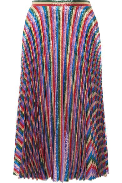 Multicolored Plissé-Lurex Concealed hook and zip fastening at side 54% polyester, 46% silk Dry clean Made in Italy