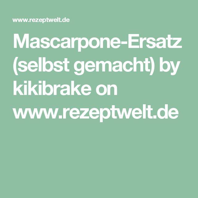 Mascarpone-Ersatz (selbst gemacht) by kikibrake on www.rezeptwelt.de