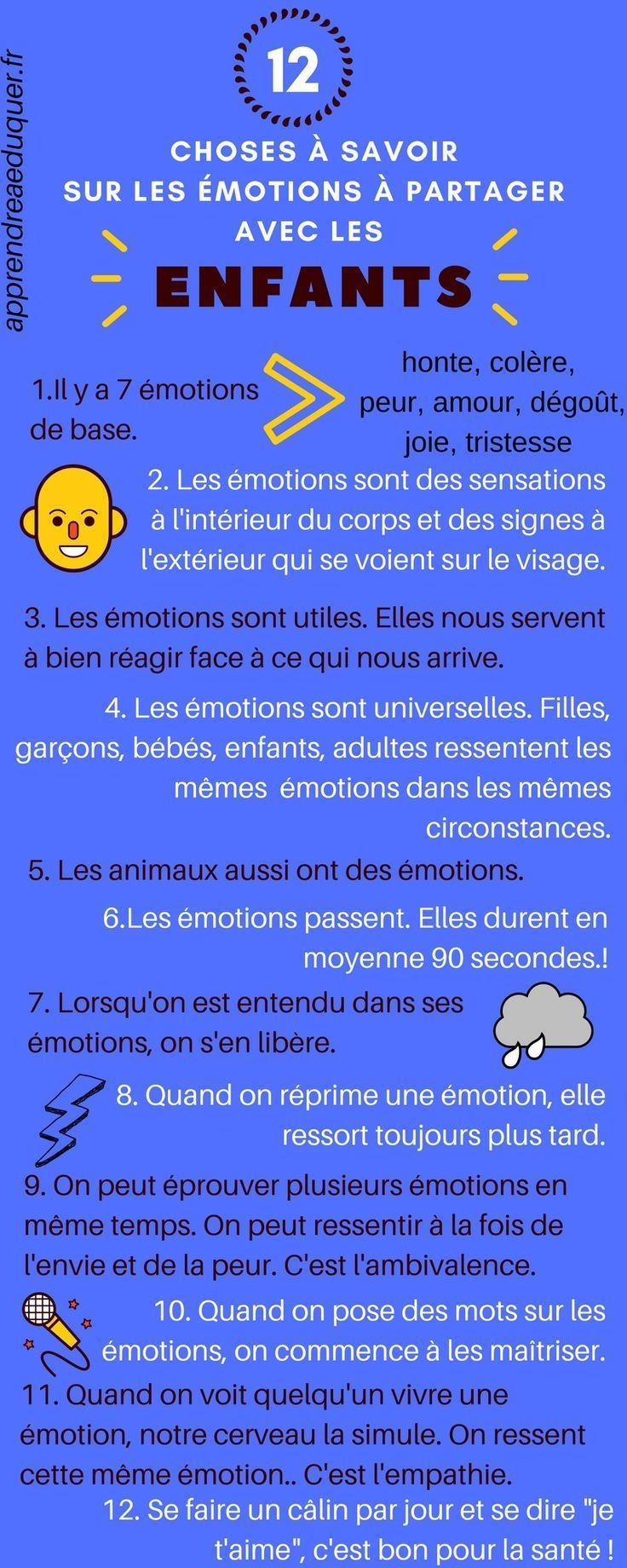 10 Choses A Savoir Sur Les Emotions Et Transmissibles Aux Enfants Citation Education Emotions Les Emotions