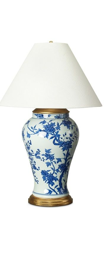 Blue And White Lamp Lamps Living Room Table