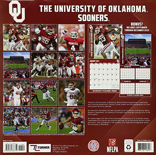 The University of Oklahoma Sooners 2017 Football Calendar