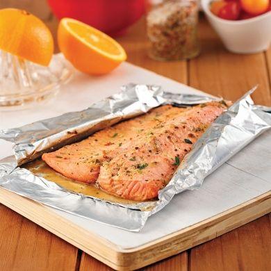 Filet de truite, sauce moutarde et orange - Recettes - Cuisine et nutrition… Plus