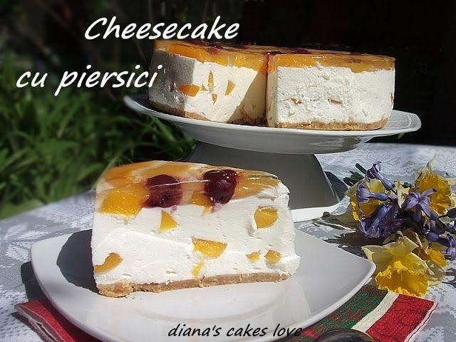 diana's cakes love: Cheesecake cu piersici- la rece