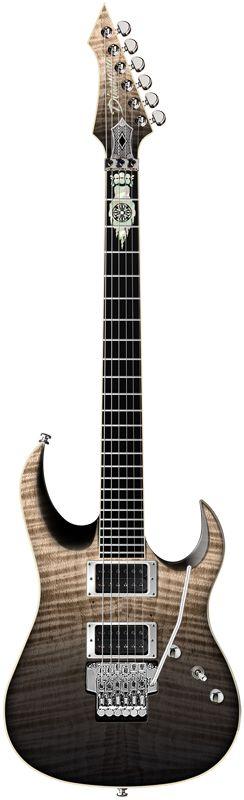 2015 Diamond Guitars Halcyon ZB-FR Electric Guitar - Black Moonrise
