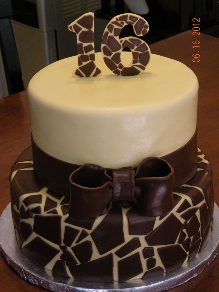 Giraffe Print on Cake Central