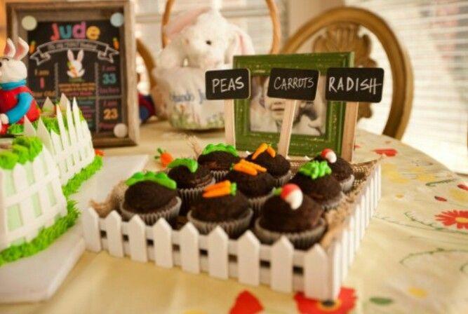 Garden Cupcakes Harry the Bunny Birthday